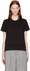 Comme Des Garcons Black Padded Patches T Shirt