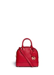 Michael Kors 'Smythe' Small Pebbled Leather Dome Satchel Red