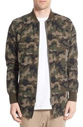 Zanerobe Men's 'A Ten' Longline Fishtail Bomber Jacket Camo