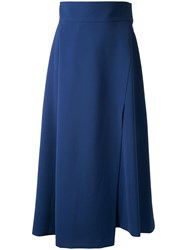 H Beauty And Youth A Line Asymmetric Skirt Blue
