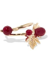 Rosantica Gold Tone Stone Ring Red