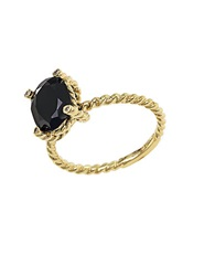 Effy 14Kt Yellow Gold And Onyx Ring With Diamond Accents Black