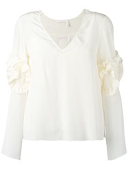 See By Chloe Frill Detail Top Nude Neutrals