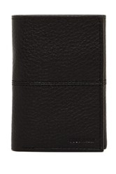 Cole Haan Pebble Leather Trifold Wallet Black