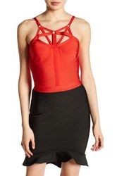Wow Couture Halter Crop Shirt Red