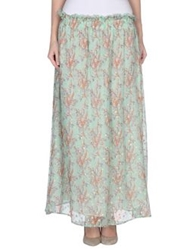 Mes Demoiselles Long Skirts Light Green