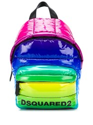 Dsquared2 Rainbow Quilted Backpack Blue