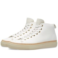 Buttero Tanino Mid Leather Welt Sneaker White