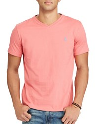 Polo Big And Tall Jersey V Neck Tee Winslow Red