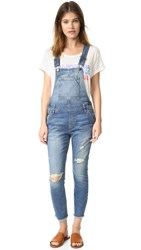 Current Elliott The Charley Overalls Rye Destroy With Released Hem