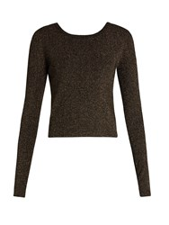 A.L.C. Chance Wrap Back Lame Sweater Black Multi