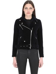 Route Des Garden Slim Fit Velvet Biker Jacket
