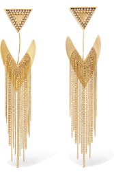 Erickson Beamon Smoking Jacket Gold Plated Swarovski Crystal Earrings