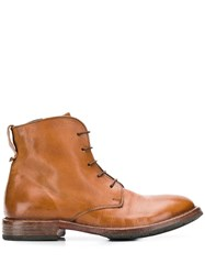 Moma Minsk Lace Up Boots Brown
