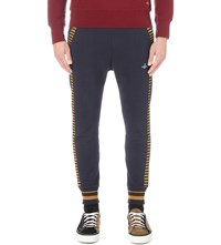 Vivienne Westwood Striped Cotton Jersey Jogging Bottoms Navy