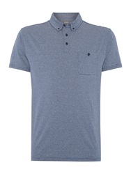 Linea Gibbons Fine Stripe Polo Blue
