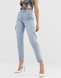Missguided Riot Mom Jeans In Blue