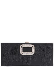 Roger Vivier Pilgrim Metallic Embroidery Leather