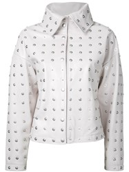 Donnah Mabel Studded Jacket White