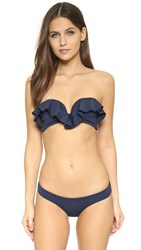 Zimmermann Separates Frill Bandeau Top Navy
