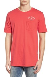 Hurley Plate Lunch Pocket T Shirt Track Red