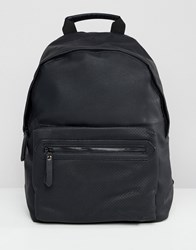 New Look Faux Leather Backpack In Black