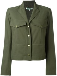 Kenzo Cropped Military Jacket Green