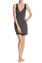 Pj Salvage Ikat Print Dot Chemise Black