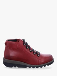 Josef Seibel Lina 9 Leather Ankle Boots Red