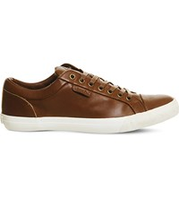 Ralph Lauren Geffrey Leather Trainers Polo Tan