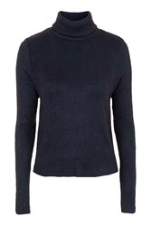 Zipped Up Navy Poloneck Jumper By Goldie Navy Blue