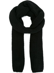 Dsquared2 Chunky Knit Scarf Black