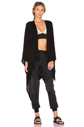 Beyond Yoga Open All Night Poncho Black
