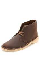 Clarks Leather Desert Boots Beeswax
