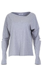 Tibi Mercerized Asymmetrical Tee