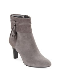 Bandolino Willaria Suede Ankle Booties Grey