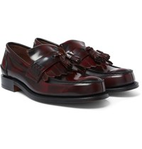 Church's Oreham Burnished Leather Kiltie Tasselled Loafers Burgundy