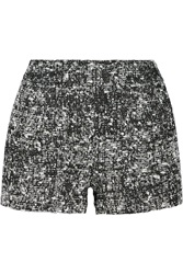 Proenza Schouler Pleated Boucle Shorts Black