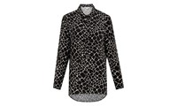 Whistles Giraffe Print Shirt Black Multi