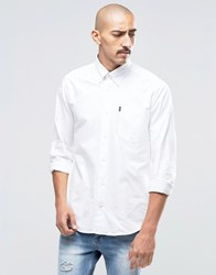 Barbour Oxford Shirt In Tailored Slim Fit White White