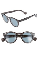 Moncler Women's 49Mm Keyhole Sunglasses Grey Other Blue Grey Other Blue