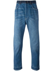 Lanvin Stonewashed Dropped Crotch Jeans Blue