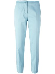 Etro Tailored Cropped Trousers Blue