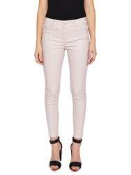 Ted Baker Katarie Coated Skinny Jeans Baby Pink