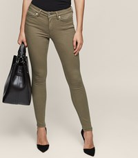 Reiss Stevie Low Rise Skinny Jeans In Brown Womens