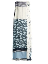 Acne Studios Dulcia Paisley Print Boat Neck Dress Blue Multi