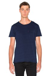 Scotch And Soda Garment Dyed Tee Blue