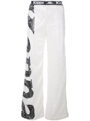 Faith Connexion Sequinned Track Pants White