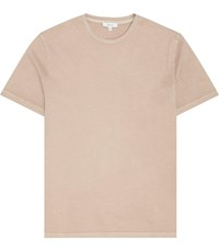 Reiss Bertie Acid Washed T Shirt In Stone