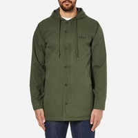 Obey Clothing Men's Slugger Fishtail Parka Jacket Dark Army Green